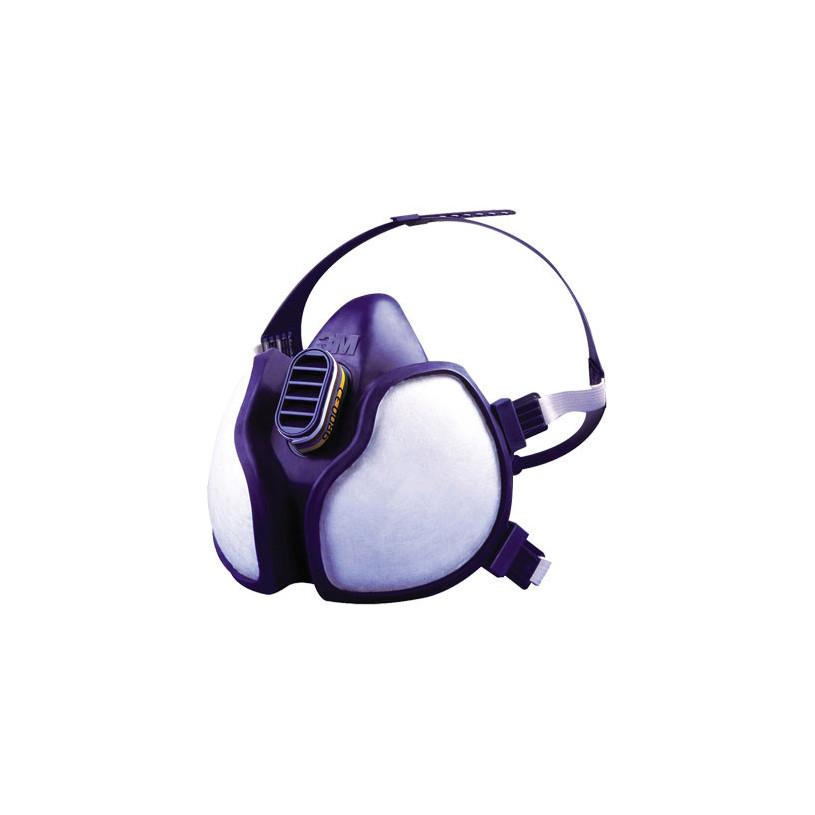 Demi masque respiratoire chimie filtres intégrés FFABEK1P3D - 3M 4279 3M