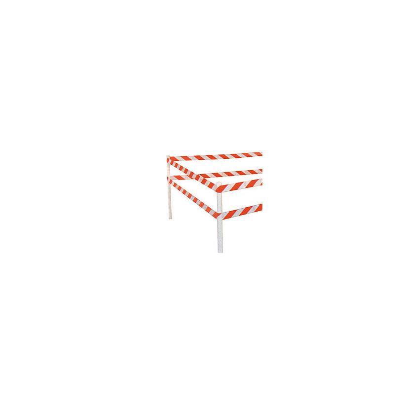 Rubalise de signalisation rouge et blanche - 50 mm x 100 ml PROMECA