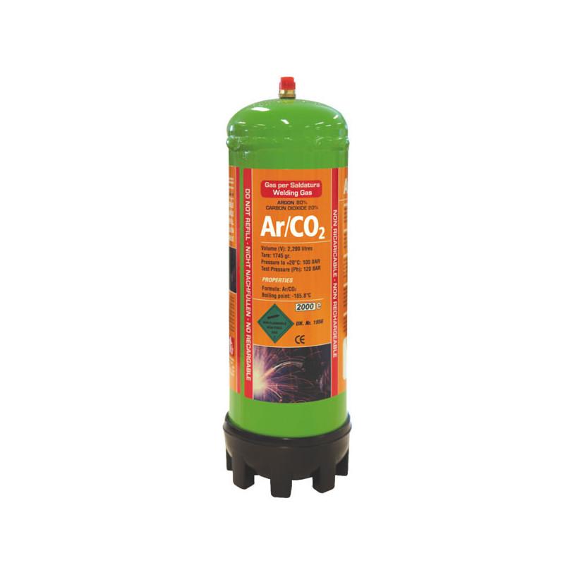 Bouteille ARGON - CO2 Jetable 2.2 litres GYS